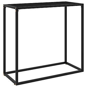 vidaXL Console Table Black 80x35x75 cm Tempered Glass