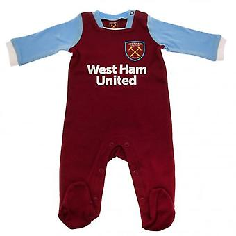 West Ham United Sleepsuit 6/9 mths