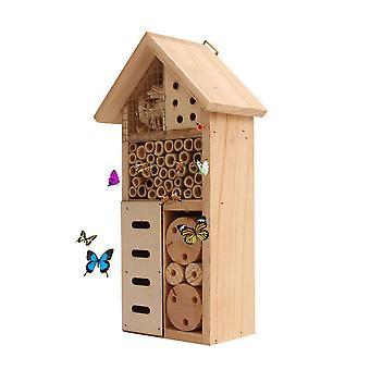 Houten insect bij vlinder huis houten bug nesten doos insecten doos voor buiten| Vogelkooien & Nesten