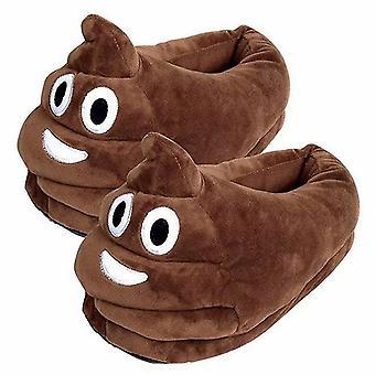 Unisex Emoji Slippers Plush Fluffy House Shoes