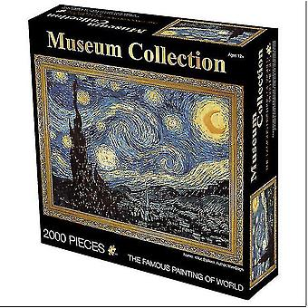 Jigsaw puzzles 2000 pieces oil painting adult puzzle educational toys creative decompression birthday gift gift #4859