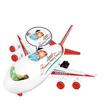 Gyermek játékrepülő utasszállító repülőgép modell fény- és hangeffektusokkal(piros)