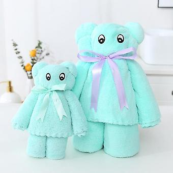 Coral Fleece Bear Suit Towel Net Celebrity Gift Company Gift Yarn Bag Is Not Easy To Shed Soft Absorbent Towel Bath Towel