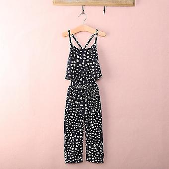 Overalls cute heart print jumpsuits with suspender