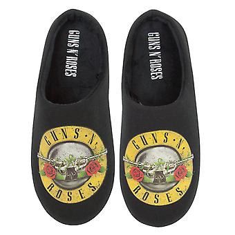 Guns N Roses Mens Band Logo Bullet Tofflor