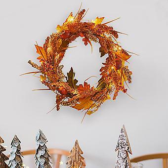 Großer Herbst Goldener Sorghum Kranz Tür Ernte Kranz Dekoration
