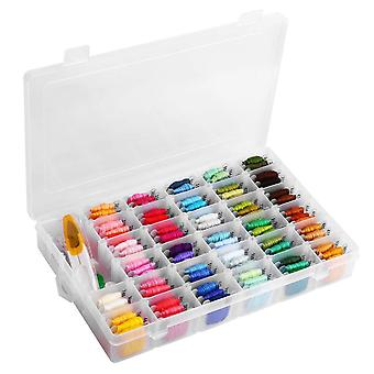 Embroidery Floss Set With Organizer Box 96 Rainbow Colors Bracelets