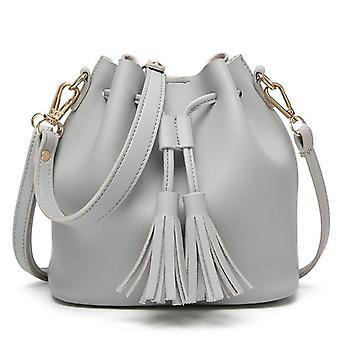 new bucket bag handbag messenger bag(gray)