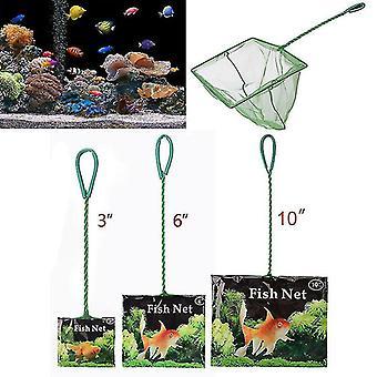 Portable fish net long handle square aquarium accessories fish tank landing net fishing net fish