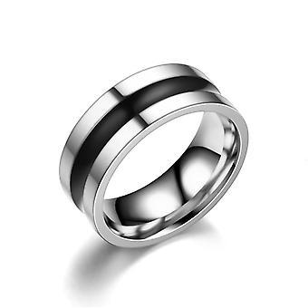 Fashion Ring Mannen Dripping Black Oil Titanium Steel Ring