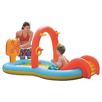Aufblasbare Schwimmbad Paddelbecken Badewanne Im Sommer Schwimmbad für Kinder Schiebebecken Sprinkler Wasser Spielzeug