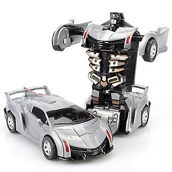 2 In 1 Verformung Roboter Kit 12-13cm Ein Schritt Verformung Spielzeug Auto Modell Kinder Spielzeug Geburtstag Geschenk-b