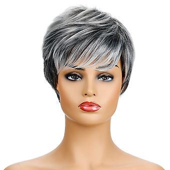 Brand Mall peruukit, pitsi peruukit, realistinen pörröinen lyhyt hiukset kiharat hiukset personoitu peruukit