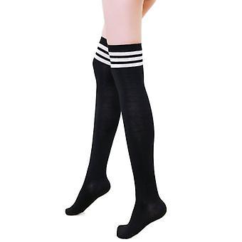 Urban Classics Damen - College Thigh High Strümpfe Socken 3 Set