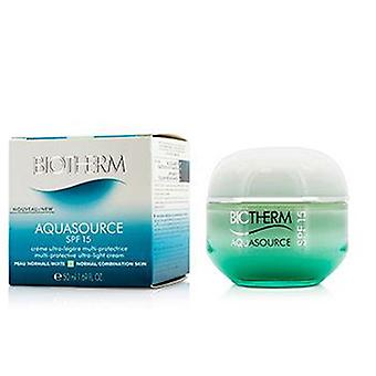 Biotherm Aquasource Multi-protective Ultra-light Cream Spf 15 - For Normal/combination Skin - 50ml/1.69oz