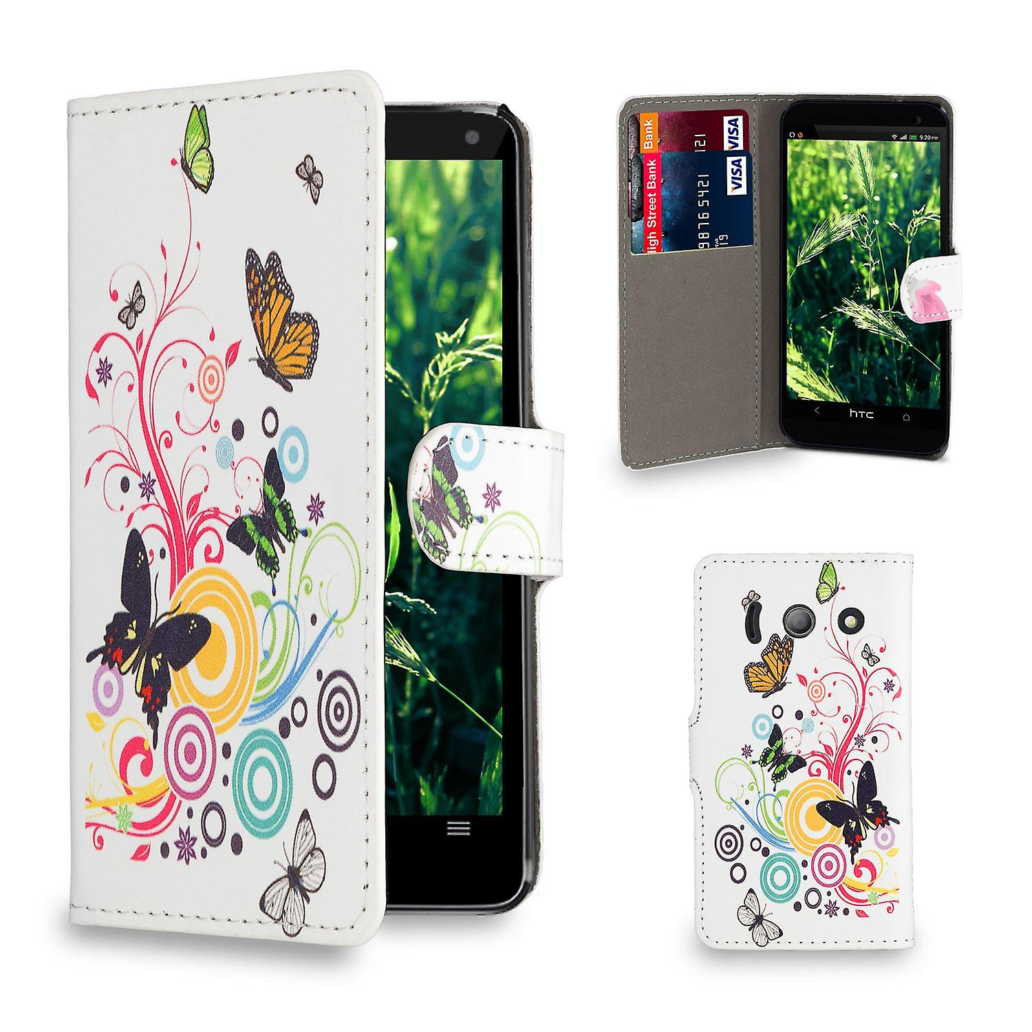 Design book PU leather case cover for Huawei Ascend Y300 - Colour Butterfly
