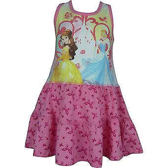 Girls Disney Princess Summer Sleeveless  Dress