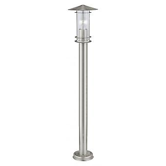 Eglo Lisio 1 Light 1 Light Outdoor Post Lamp Stainless Steel IP4