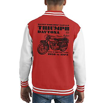 Varsity Jacket de Haynes propriétaires atelier manuel Triumph Daytona 350 500 Kid