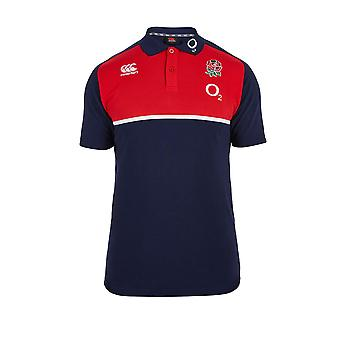 Polo di CCC Inghilterra Rugby cotone formazione [Marina]