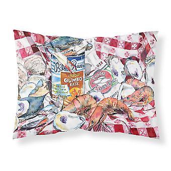 Blue Runner Gumbo Receipe Moisture wicking Fabric standard pillowcase