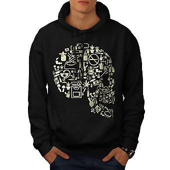 Head Rasta 42 Weed Skull Men BlackHoodie | Wellcoda