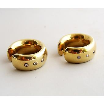 Gold Earrings with diamond