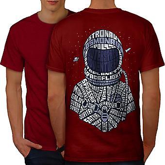 Space Cosmonaut Men RedT-shirt Back | Wellcoda