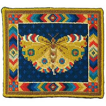 Yellow Butterfly Needlepoint Kit