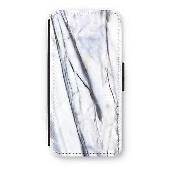iPhone 5/5 s/SE Flip Case - gestreiften Marmor
