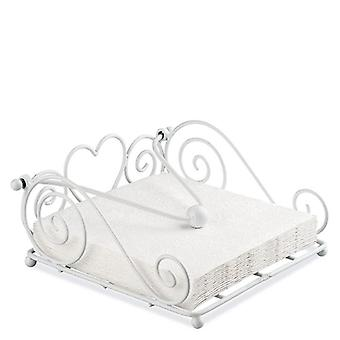 Ambiente Rustical Napkin Holder, White