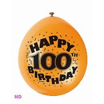 "Ballonnen Gelukkige 100ste verjaardag 9"" Latex ballonnen (10)"
