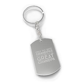 Promoted To Great Grandpa Silver Key Chain