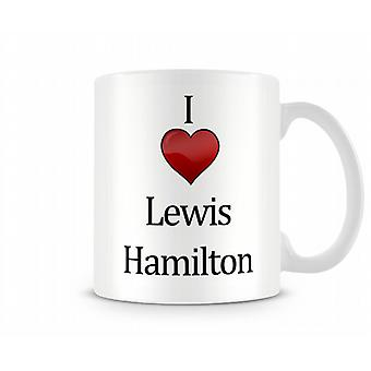 Ik hou van Lewis Hamilton bedrukte mok
