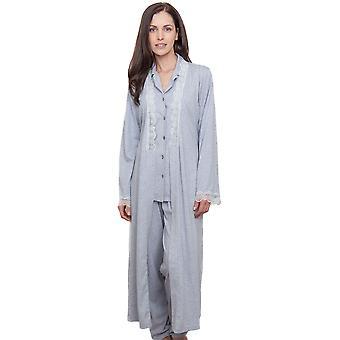 Cyberjammies 1290 vrouwen Nora Rose Ava Grey badjas Lounge Robe badjas