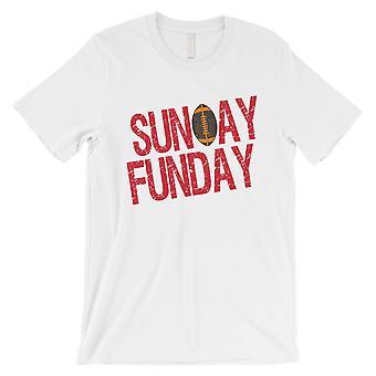 الأحد FUNDAY تي شيرت تامبا مضحك رجالي اليوم لعبة المحملة القميص الأبيض