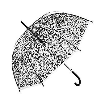 Straight Clear Umbrella (Heart Leaf black)