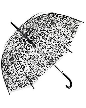 Straight Clear Umbrella (Heart Leaf black)