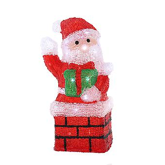 Festive Productions Acrylic Christmas Lit Santa Chimney LED Lights Outdoor Indoor Decoration