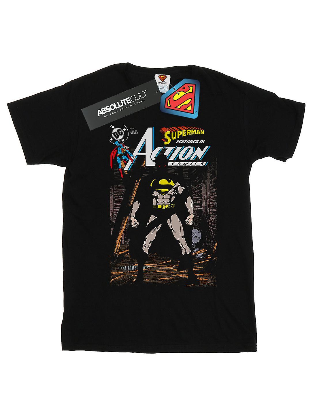DC Comics Women's Superman Action Comics 644 Cover Boyfriend Fit T-Shirt