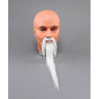 Zauberer Bart + Tasch. Weiß.