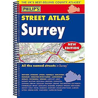 Philip's Street Atlas Surrey: spirala Edition (atlasy ulicy Filipa)