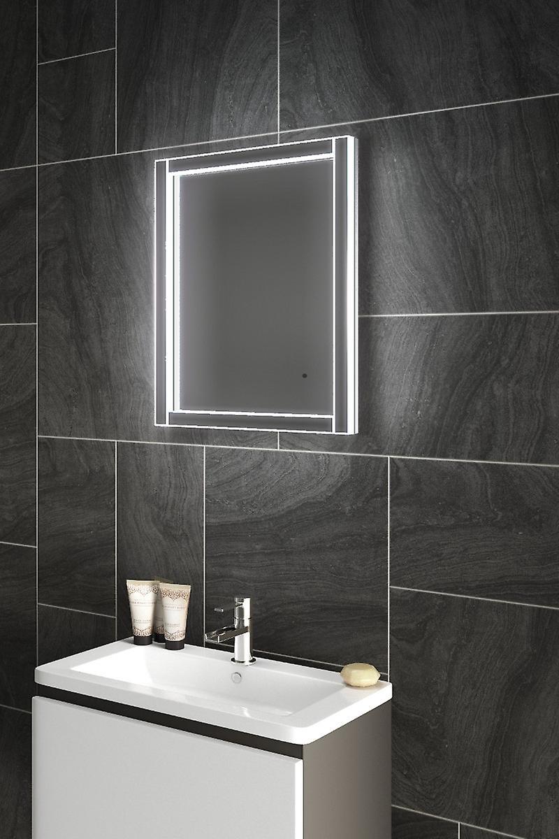 Diamond x Hem Bathroom Mirror With Infra-red sensor, and Demister pad
