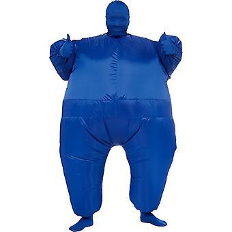 Peau gonflable costume adulte bleu
