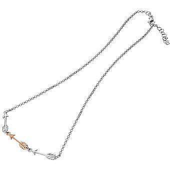 Bella Arrow Necklace - Silver/Rose Gold