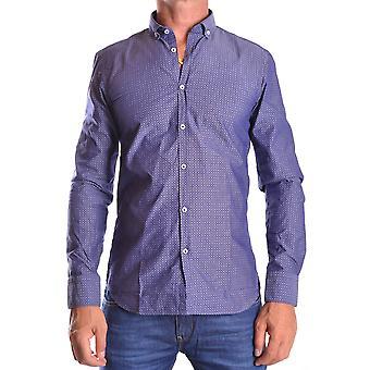 Manuel Ritz Ezbc128002 Men's Blue Cotton Shirt