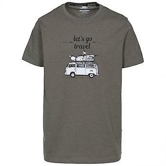 Trespass Mens Motorway Short Sleeve Graphic T Shirt