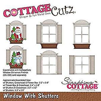 CottageCutz venster met luiken (CC-357)