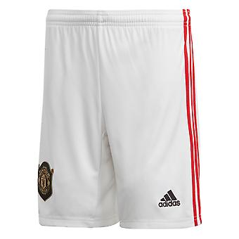 adidas Manchester United 2019/20 Kids Home Football Short White