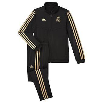 2019-2020 Real Madrid Adidas PES Tracksuit (Black) - Kids